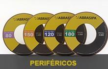 Rebolos perifericos-legenda para polimento de vidros